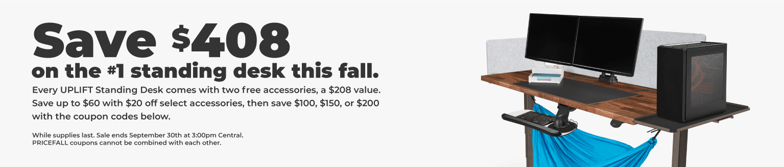 UPLIFT fall sale save $408 on standing desk